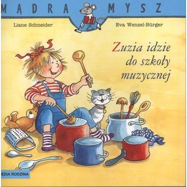 Zuzia idzie do szkoły muzycznej mądra mysz