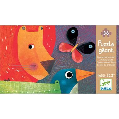 Djeco, puzzle - Parada Zwierząt - 133cm długości