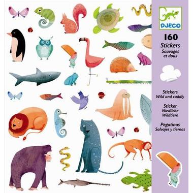 Djeco, zestaw naklejek - Zwierzątka