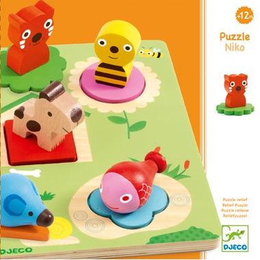 Djeco, drewniane puzzle - NIKO