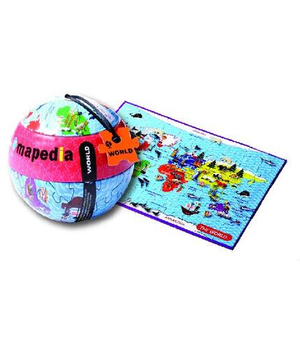 Mapa świata Puzzle 100 el.- The Purple Cow