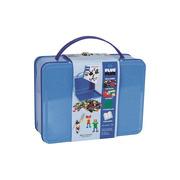 Plus-Plus, metalowa walizka Mini 600 (500Basic+100Neon+płytka+książeczka)