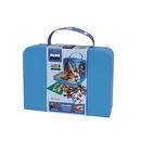 Plus-Plus, kartonowa walizka Mini 400 (300Basic+100Neon+płytka+książeczka)