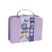 Plus-Plus, kartonowa walizka Mini 400 (300Pastel+100Neon+płytka+książeczka)