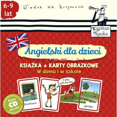 Angielski dla dzieci w domu i w szkole + karty obrazkowe kapitan nauka