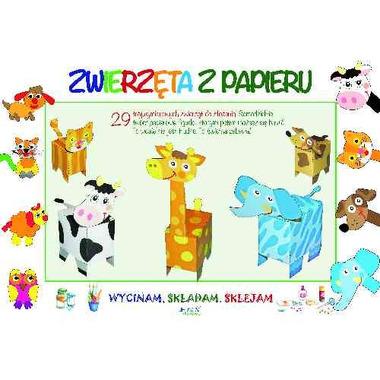 Zwierzęta z papieru wycinam składam sklejam