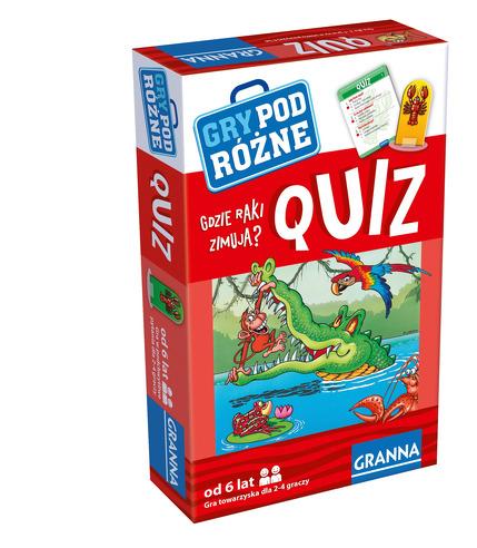 Gra quiz gdzie raki zimują gry podróżne
