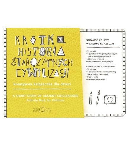 Krótka historia starożytnych cywilizacji kreatywna książeczka dla dzieci