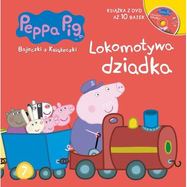 Lokomotywa dziadka świnka peppa bajeczki z książeczki tom 7 + dvd