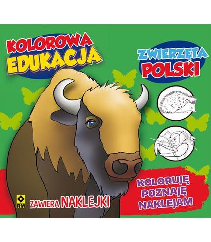 Zwierzęta polski kolorowa edukacja