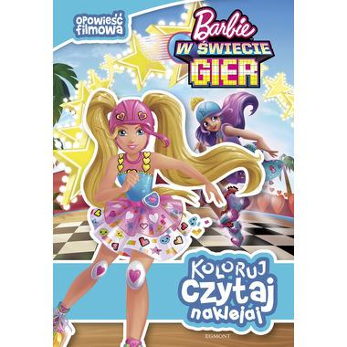 Barbie w świecie gier opowieść filmowa koloruj czytaj naklejaj