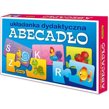 Gra abecadło puzzlowa układanka dydaktyczna