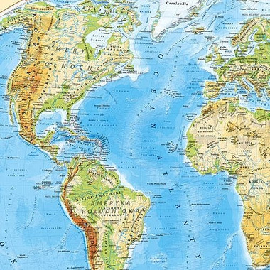 Podkładka na biurko mapa świat dwustronna fizyczno polityczna