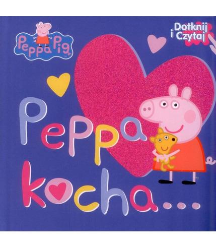Peppa kocha dotknij i czytaj świnka peppa