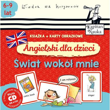 Angielski dla dzieci świat wokół mnie książka + karty obrazkowe kapitan nauka