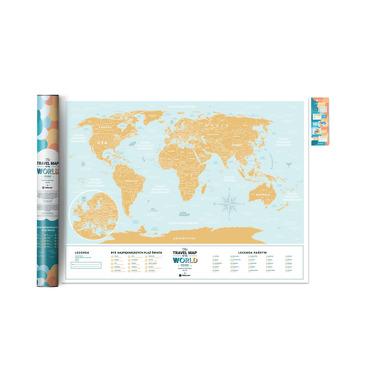 Mapa zdrapka świat travel map lagoon world wersja polska