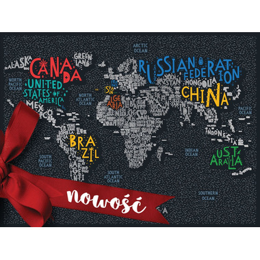 Mapa zdrapka świat travel map letters world