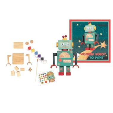 Egmont toys, drewniany robot do złożenia i pomalowania