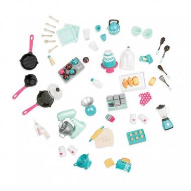 Lori, Mix & Bake Set - zestaw akcesoriów – PIECZEMY CIASTO - dla lalek