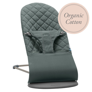 BabyBjorn, leżaczek BLISS COTTON Organic - Greyish Green