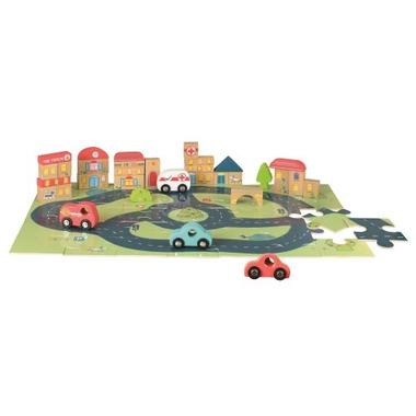 Egmont toys, Drewniane puzzle, miasto i samochodzikii