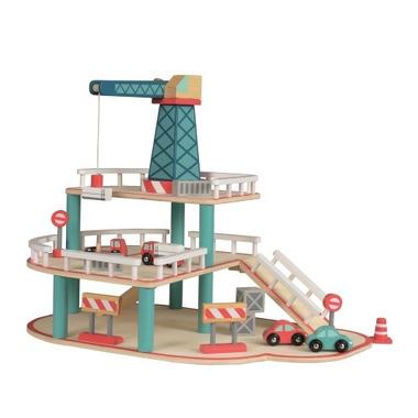 Egmont toys, Drewniany garaż z samochodami
