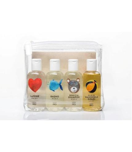 Linea MammaBaby, Zestaw kosmetyków 4 x 100ml (mydło, płyn do kąpieli, szampon, olejek)