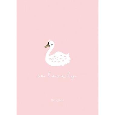 Funkybox, Plakat Dziecięcy 30x42 Pink Swan