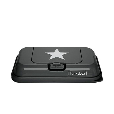 Funkybox, Pojemnik na Chusteczki To Go Dark Grey White Star
