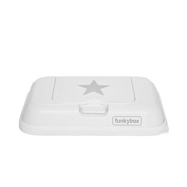 Funkybox, Pojemnik na Chusteczki To Go White Silver Star