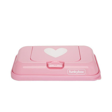 Funkybox, Pojemnik na Chusteczki To Go Pink White Heart