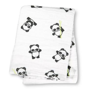 Kocyk / otulacz Muślinowy Panda
