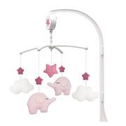 JaBaDaBaDo, karuzela pozytywka z uchwytem różowy słoń
