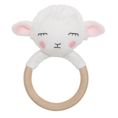 JaBaDaBaDo, grzechotka-gryzak drewniana owieczka