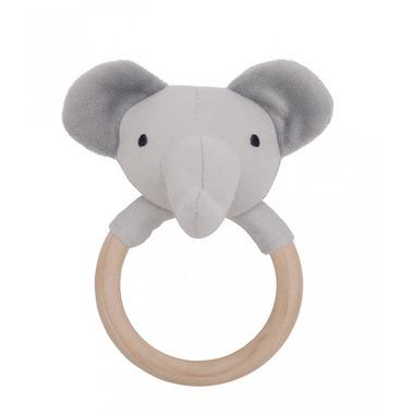 JaBaDaBaDo, grzechotka-gryzak drewniana szary słoń