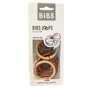 Bibs, Loops - Blush / Vanilla / Rust 12 Pack