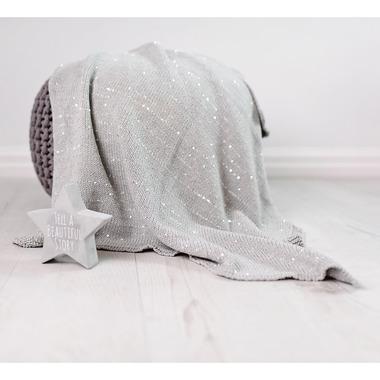 Bizzi Growin, Silver Sparkling Blanket kocyk tkany Srebrne Iskierki