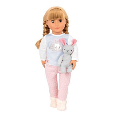 Our Generation, Lalka JOVIE – blondynka z GRZYWKĄ, w PIDŻAMCE, z króliczkiem-przytulanką