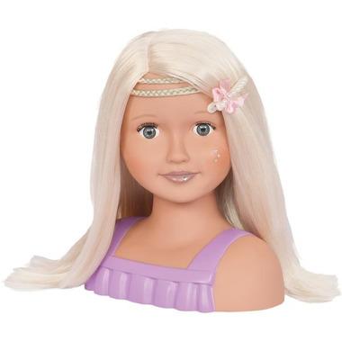 Our Generation, Głowa lalki do stylizacji fryzjerskich, z akcesoriami