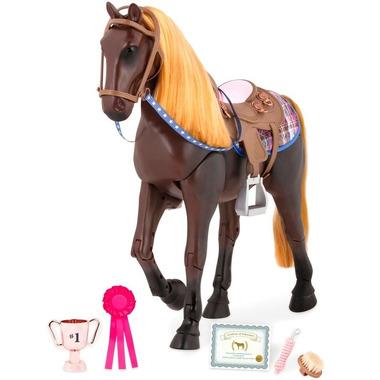 Our Generation, Koń w kolorze ciemnej czekolady z akcesoriami – RUCHOME KOŃCZYNY