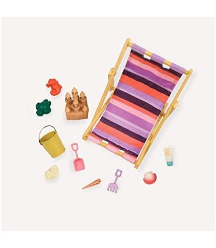 Our Generation, Zestaw LALKA NA PLAŻY – z leżakiem, zamkiem z piasku i akcesoriami do plażowania