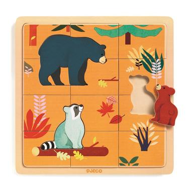 Djeco, Edukacyjne puzzle drewniane KANADA