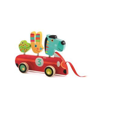 Djeco, Drewniana zabawka do ciągania ZEBRA