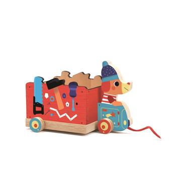 Djeco, Drewniana zabawka do ciągania JO TRUCK