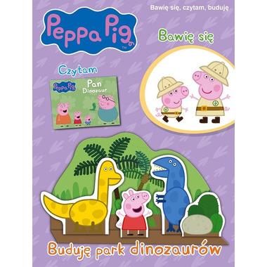 Buduję park dinozaurów świnka peppa bawię się czytam buduję