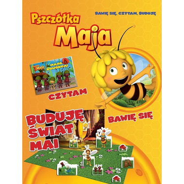 Buduję świat mai bawię się czytam buduję pszczółka maja