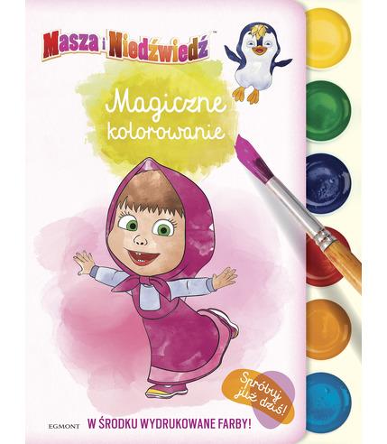 Masza i niedźwiedź magiczne kolorowanie