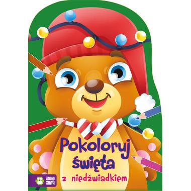 Pokoloruj święta z niedźwiadkiem