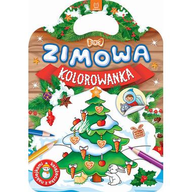 Zimowa kolorowanka