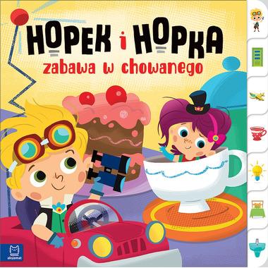 Hopek i hopka zabawa w chowanego interaktywna książeczka dla dzieci